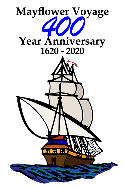 Mayflower 400 anniversary logo